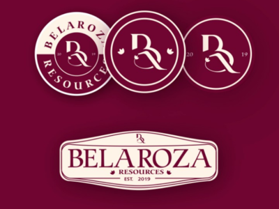LOGO DESIGN MOCKUP & APPLICATIONS FOR BELAROZA RESOURCES