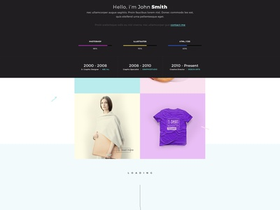 FOLIO - Free Homepage PSD website web design free psd ux ui interface portfolio landing page homepage psd freebie