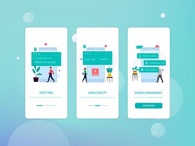 Travel guide page app illustration typography design ui