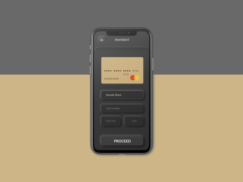 Daily UI 2 - Credit Card checkout minimal ios daily 100 challenge dailyui checkout form neumorphism creditcard ui dark mode checkout app