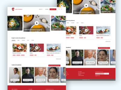 Food Network - Homepage Redesign webdesign layoutdesign recipes food app