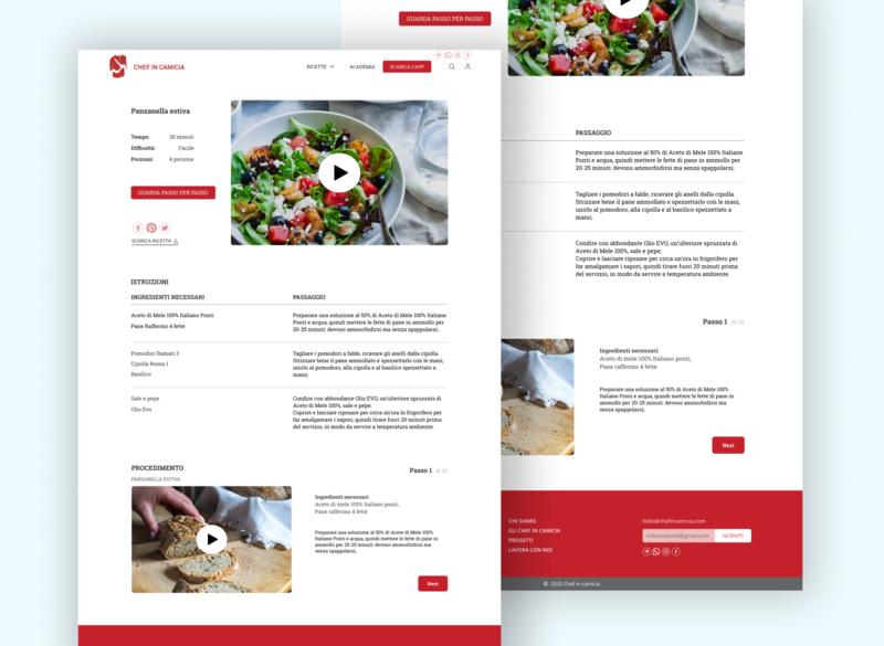 Food Network - Recipe page Redesign redesign concept webdesign foodapp recipes recipe