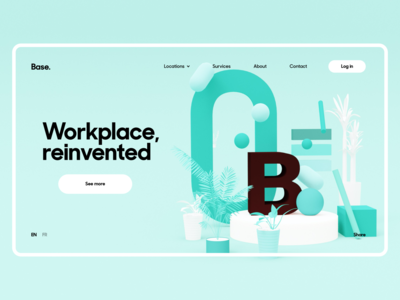 Co-working Places Website Concept