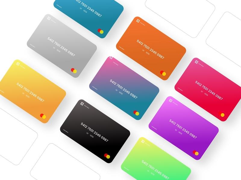 Credit Cards identity app typography logo credit cards creditcard cards ui design branding