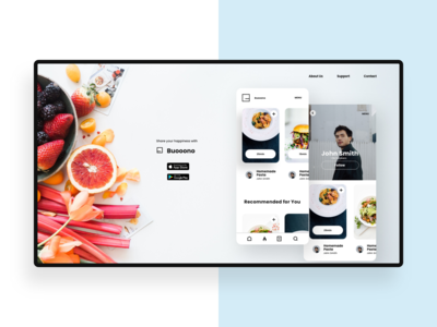Recipe App Landing Page