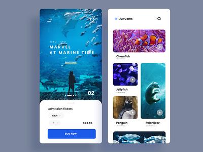 Aquarium App ui design app branding web mobile app design mobile app mobile ui mobile design ui