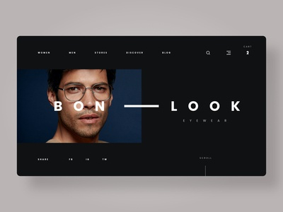 Eyewear Website (BONLOOK Concept)