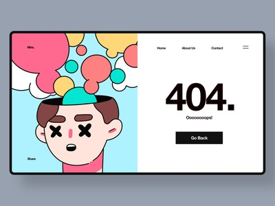 404 ui design illustration website web design ui 404 error 404 page 404page 404