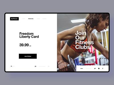 Fitness Club ui design web design landing page identity website web branding design ui fitness website design fitness website fitness club fitness