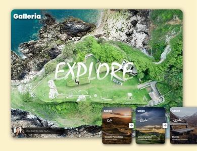 Galleria Tourism landing Page
