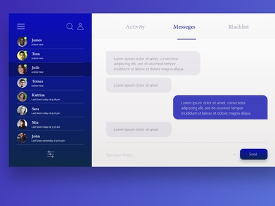 Messenger Ui Design