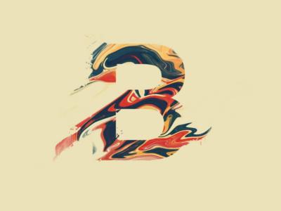 Alphabet-B initial letter logo procreate alphabet