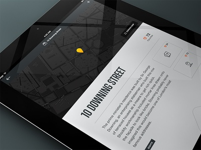Secret Detail on iPad app mobile design ui ux interface