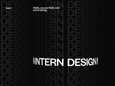 Rally is hiring Design Interns