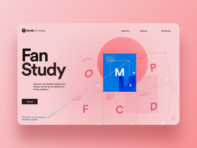 Spotify for Artists Fan Study Pitch; Concept style-frame No. 2 illustration interface ux rally interactive design ui