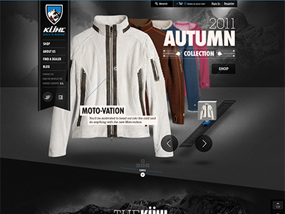 Old pitch direction for a site creative direction art direction design ui e-commerce html rally interactive