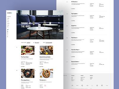 Snowbird Dining Detail Templates website web design site concept creative direction art direction interface ux rally interactive design ui