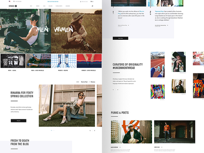 Stance — home page e-commerce concept website web design site creative direction art direction interface ux rally interactive design ui