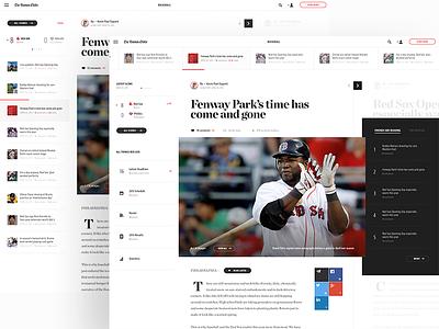 Initial Art Direction for Boston Globe website web design site concept creative direction art direction interface ux rally interactive design ui