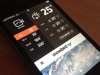 Snowfall Widget (mobile website)