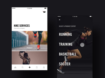 Nike+ Chat - connection moment ideation ios creative direction art direction app mobile interface ux rally interactive design ui