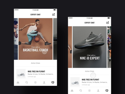 Nike+ Chat - dashboard ideation ios concept art direction app mobile interface ux rally interactive design ui
