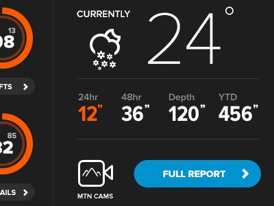 Snowbird Widget updates climacons rally interactive web design ux interface ui design