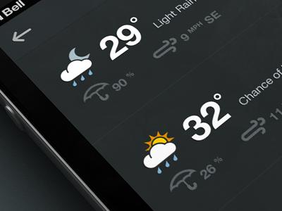 Weather dribbble
