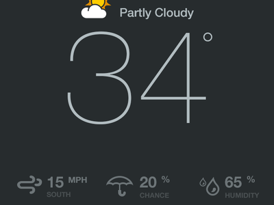 Weather rally interactive mobile app ux design ui interface