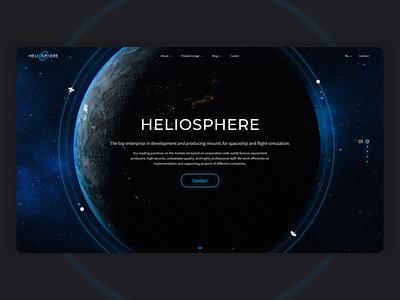 Heliosphere | Website figma minimal animated gif webdesign interactive technology motion design motion site ui design ui  ux cosmic cosmos space animation website design web design website design ui