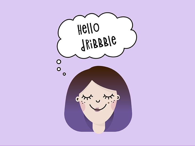 Hello Dribbble! hello dribbble girl character girl illustration