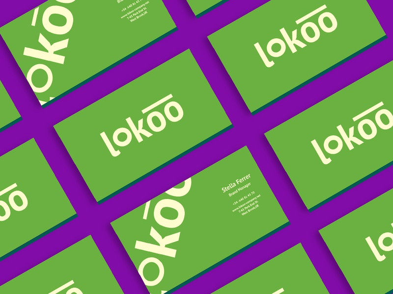 Lokoo Calling card designer design graphic artist brand design branding design business card brand identity branding logodesign logo graphics businesscard calling card