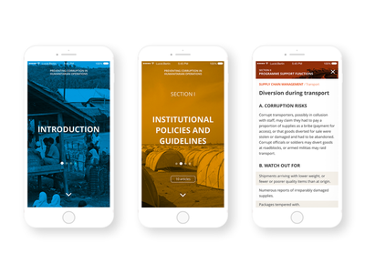 Preventing Corruption in Aid app android ios mockups mockup navigation application transparency international art direction app design ux ui app