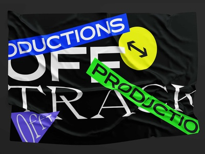 Offtrack Productions colour fonts typography audiovisual productions offtrack logotype branding logo