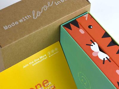 One More Babies Packaging animales caja baby packaging clothing packaging spain branding ilustración illustration packaging