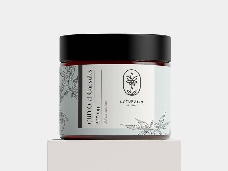 Naturalis Label No. 2 botanical botanico spain ilustración cbd etiqueta label packaging design packaging illustration design