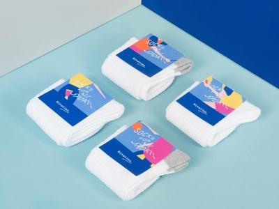 Nineties Sport Socks Packaging