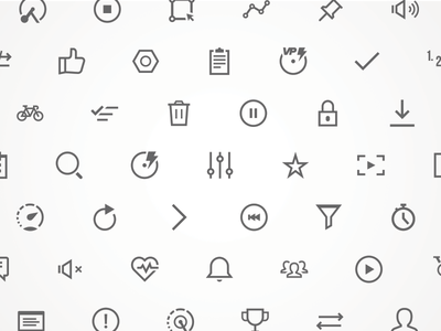 TrainerRoad Icon Set interface trainerroad cycling website web ui product image iconography icon branding brand