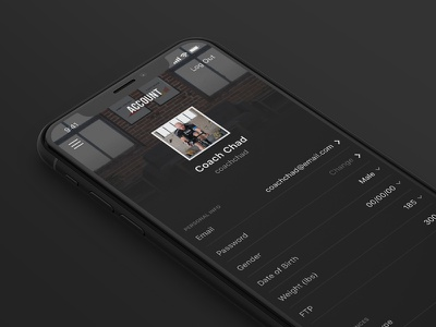 User Account Refresh bike cycling product design menu user iphone ux ui account app mobile