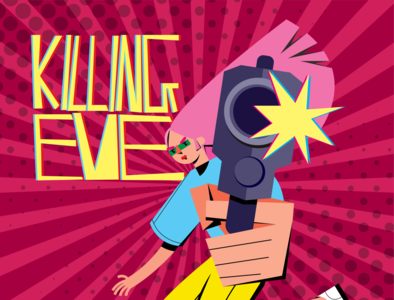 killing eve 300x illustration design girl illustration