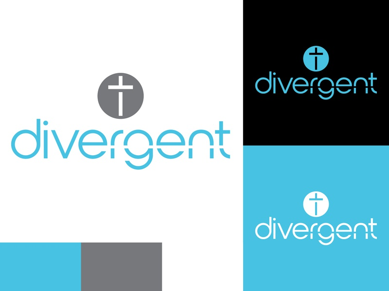 Divergent Church of God church branding church logo church vector logo logodesign design branding identity adobe illustrator minimal flat