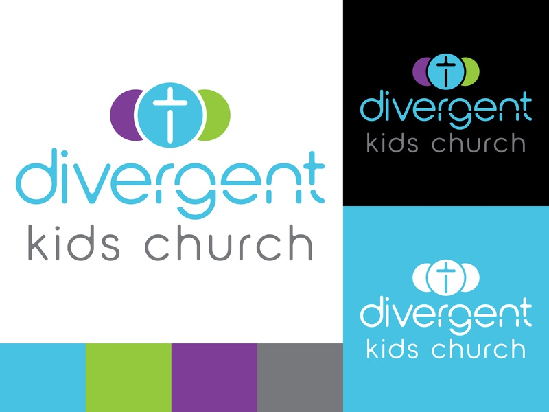 Divergent Church of God Kids Church church branding church design church logo church branding design identity logo adobe illustrator flat