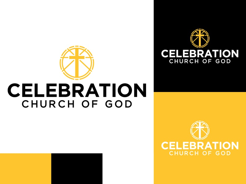 Celebration Church of God minimal church branding church logo church logodesign illustration identity logo adobe illustrator