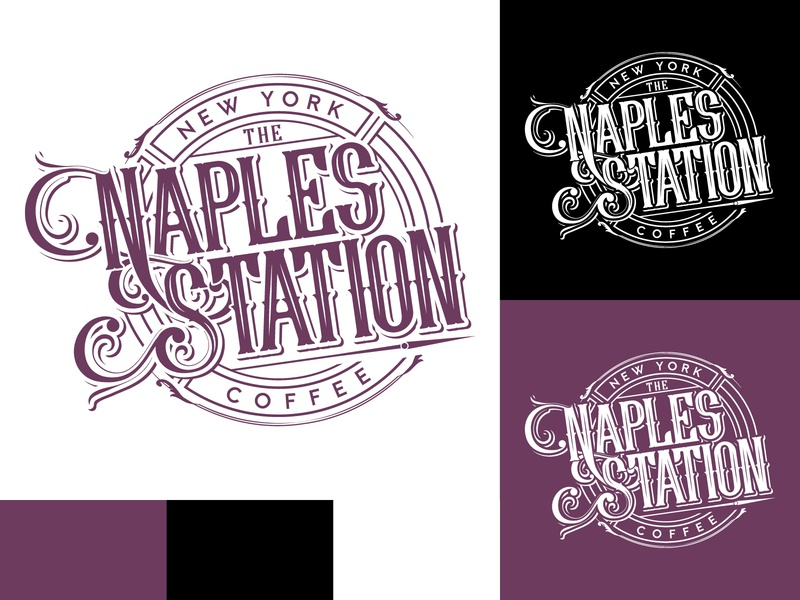 Naples Station vector adobe illustrator branding identity detail typogaphy logodesign logo coffee shop