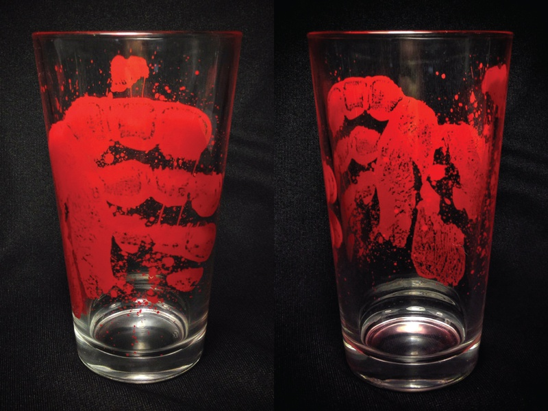 Zombie Hand Glass horror zombie glass design glassware drinkware