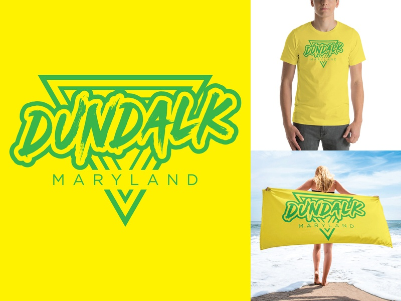 Dundalk 80's Style Shirt logodesign adobe illustrator apparel design shirtdesign maryland dundalk 80s style 80s