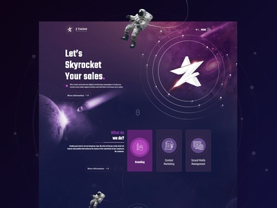 Z Takimi Web Site galaxy ux dribbble branding web app design vector ui