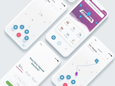 Oooautos App driver app auto mobile app app illustration ui ux vector dribbble