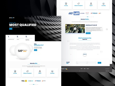 Hitsoft - Website Project website web ux ui flat dribbble design concept color clean branding