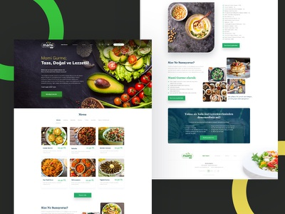 Mami Gurme - Website Project organic vegan food restaurant clean branding web design ux